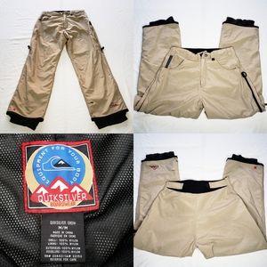 Men's Quiksilver Boardwear Ski Snow Pants Khaki M